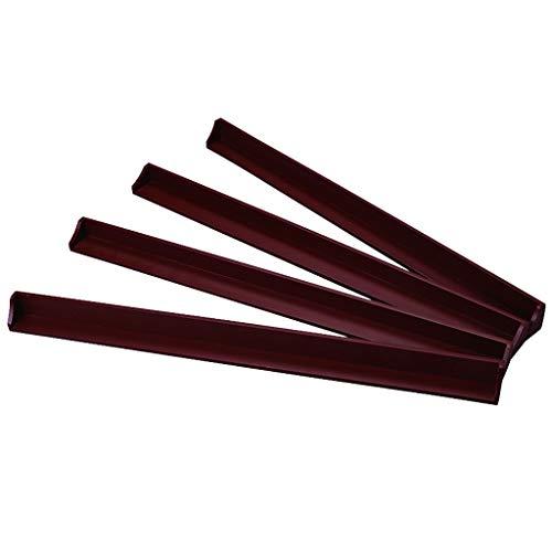Groove-holz (Mahjong-Lineal, 4 Sätze von antiken roten dreidimensionalen Groove Design aus Holz Mahjong-Lineal, leicht zu tragen Mahjong Zubehör (40 × 2,5 x 1 cm) (Color : Brown))