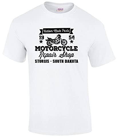 New USA Bike Week Sturgis Vintage Retro 'Custom Parts Garage Biker Motorcycle T-Shirt. Sizes Small to 5XL (X-Large,