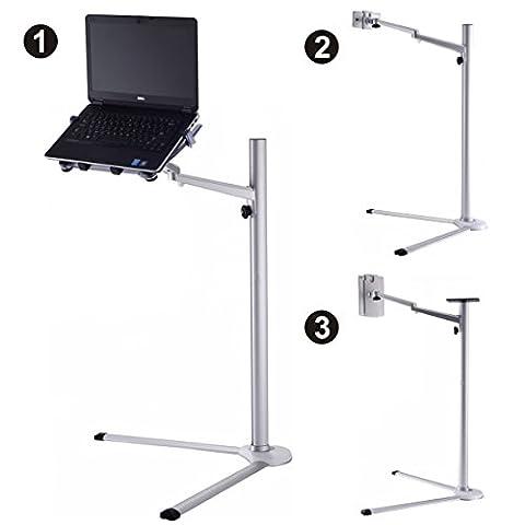 PC / iPad / ordinateur portable Mont Support pour tablette lit debout Floor Stand