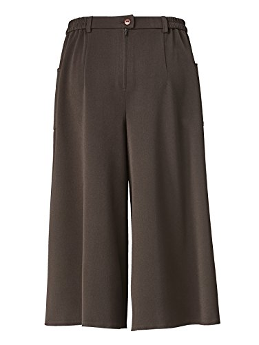Damen Hosenrock mit abgesteppten Taschen by MONA Dunkelbraun