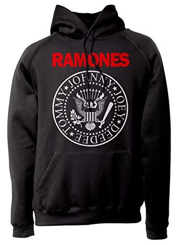 LaMAGLIERIA Sudadera Unisex Ramones - Bicolor Logo - Sudadera con...