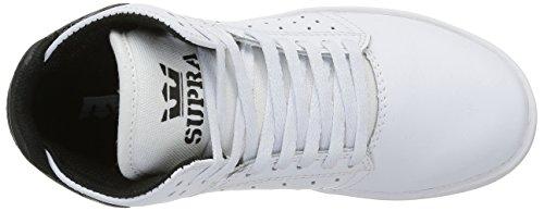 Supra Atom, Baskets Hautes Mixte Enfant Blanc (White/Black)