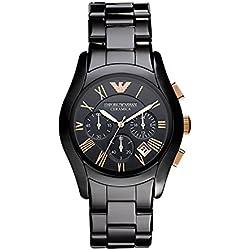 Emporio Armani AR1410 - Reloj (Reloj de pulsera, Masculino, Cerámico, Negro, Cerámico, Negro)