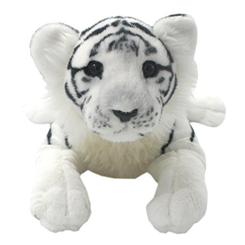 TAGLN Gefüllter Plüsch Tiere Spielzeug Tiger Kissen (60 cm, Weißer Tiger)
