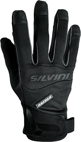 SILVINI Herren Fusaro Softshell Fahrrad Handschuhe, Black, M