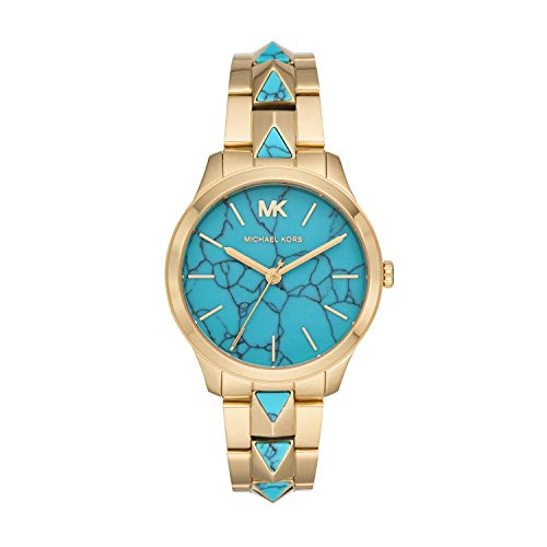 Michael Kors Damen Analog Quarz Uhr mit Edelstahl Armband MK6670