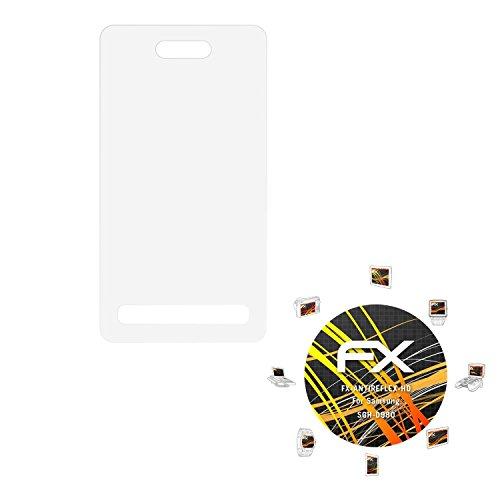 Samsung SGH-D980 Displayschutzfolie - 3 x atFoliX FX-Antireflex-HD hochauflösende entspiegelnde Schutzfolie Folie