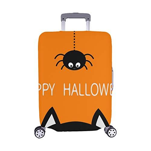 Happy Halloween Schwarze Katze Gesicht Kopf Spandex Trolley Reise Gepäck Schutz Koffer Abdeckung 28,5 X 20,5 Zoll