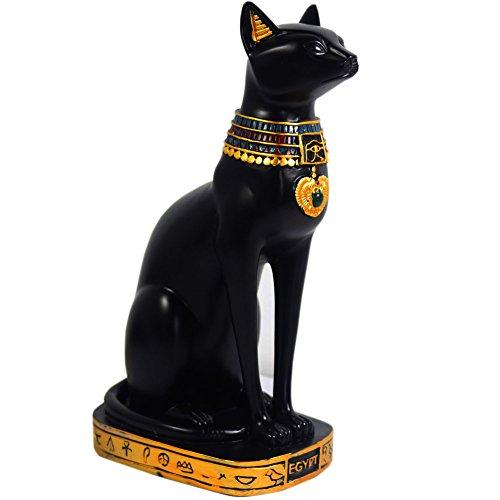 Descripción:Figura decorativa de diosa gato egipcia; es un gran artículo para decorar el pasillo, el estante, la mesa, la sala de estudio, el salón, etc.Especificaciones:Medidas: 24 x 9 x 13 cm (alto x ancho x profundidad).Material: resina.Pintada a ...
