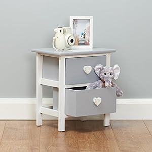 Roost Kleiner Nachttisch in Weiß und Grau