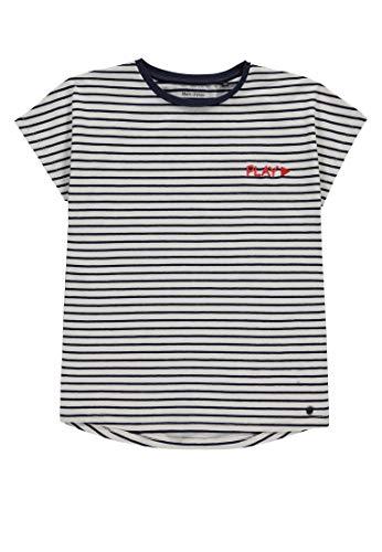 Marc O' Polo Kids Mädchen 1/8 Arm T-Shirt, Rosa (Black Iris|Blue 3800), 146 (Herstellergröße: 146/152) - Mädchen Rosa Armee T-shirt