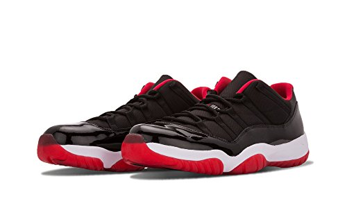 Nike Air Jordan 11 Retro Low, Chaussures de Sport-Basketball Homme Multicolore - Negro / Rojo / Blanco (Black / True Red-White)