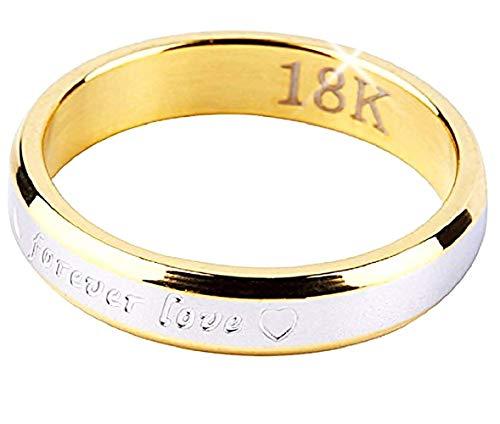 Inception pro infinite frvmh - x anello fedina in acciaio inossidabile e scritta - forever love - per sempre amore colore oro e argento - it - idea regalo (it 16)