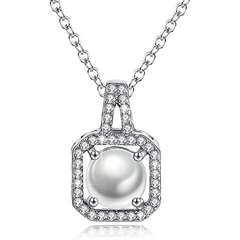 Birthstone collana Halo diamante cubico zircone quadrato ciondolo gioielli regalo di Natale per le