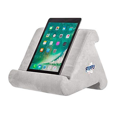 WYFC Flippy Multi-Angle Soft Pillow Lap Stand Mobile Halterung für iPads, Tablets, E-Reader, Smartphones, Bücher und Zeitschriften,Gray