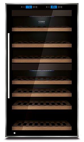 CASO WineComfort Touch 66 Design Weinkühlschrank für bis zu 66 Flaschen (bis zu 310 mm Höhe),...