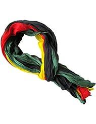 *** PROMOTION *** Chèche Foulard Écharpe - Rasta rouge noir jaune vert - 100% coton