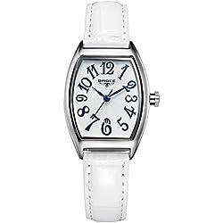 ladies waterproof watches/Retro calendar leather strap watch/Leisure quartz watch-B