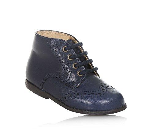 PÈPÈ - Chaussure à lacets bleue en cuir, made in Italy, look chic et contemporain, Fille, Filles