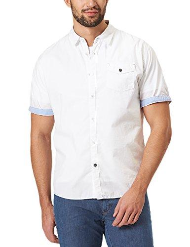 Pioneer Herren Freizeithemd Shirt SS Solid, Weiß (White 10), 47 (Herstellergröße: XXL) (Weiß Pioneer)