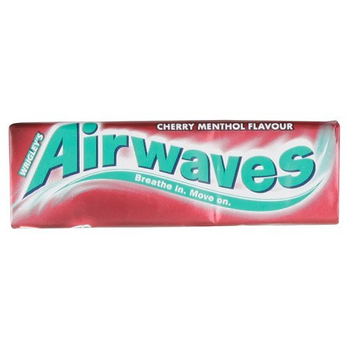 Airwaves Cherry Menthol Flavour Sugarfree Gum 10 Pieces
