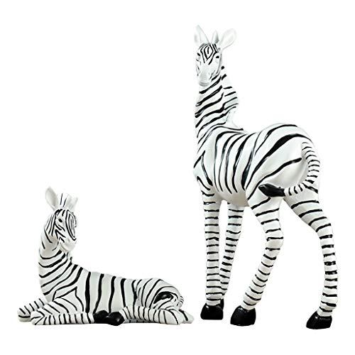 Modern Minimalist Ornaments, Resin Zebra Ornaments, Handmade Home Crafts (Color : White)