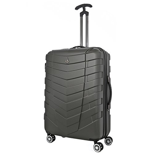 aerolite-armour-medium-abs-hard-shell-hold-check-in-luggage-suitcase-with-8-wheels-25-inch-charcoal