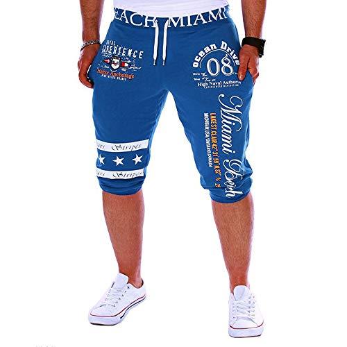 Beonzale Herren Jogging Hosen der neuen Männer der Männer Drawstring-elastische Taillen-Druck-lose Sport-Hosen Cotton Classic Baggy Pants
