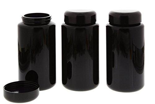 Mironglas Dose, Weithals Kosmetex Violett-Glas Vorratsdose m. Schraubverschluss, Miron, 3× 200 ml