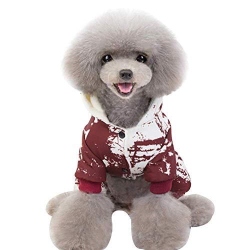 Honsin Cute Pet Cats Dog Puppy Cotton Clothes Costumes Suit Cosplaying Print 4-Legged Jumpsuit (Dog E Walk Kostüm)
