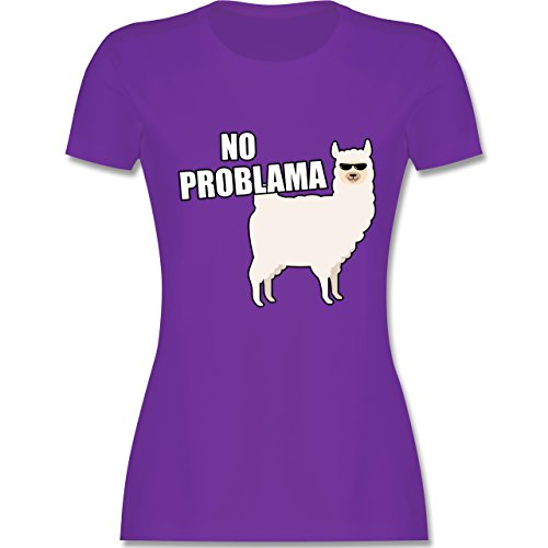 Statement Shirts - No Problama - S - Lila - L191 - Damen Tshirt und Frauen T-Shirt - Kleinkind-t-shirt Klassiker