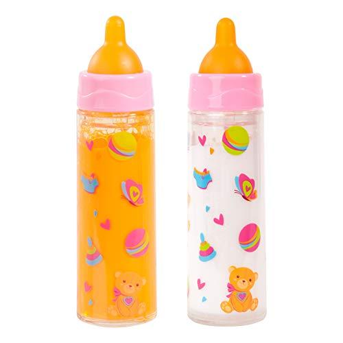 Magic Bottle Set für Puppe, Weiß/Orange ()