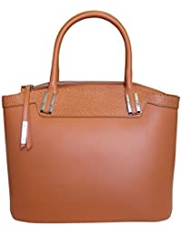 Nicoli 'Eleganza' designer italien sac fourre-tout en cuir sac à main de mariage - tan