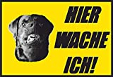 SCHILDER HIMMEL anpassbares Hundeschild Hier wache ich Schild 29x21cm Kunststoff, Nr 9 eigener Text/Bild verschiedene Größen/Materialien
