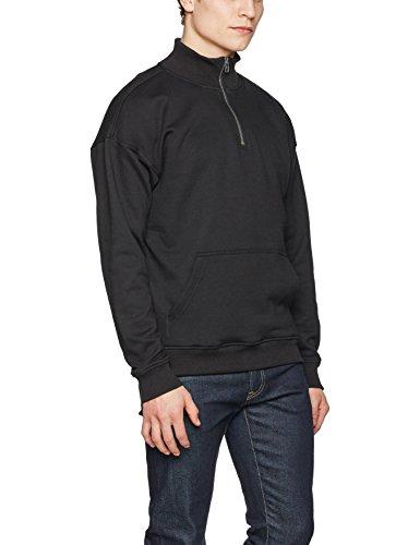 Preisvergleich Produktbild Urban Classics Herren Sweatshirt Sweat Troyer,  Schwarz (Black 7),  Large