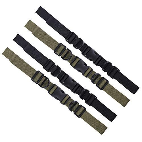 dorisdoll 4 Stück Brustgurt für Rucksack Einstellbare Heavy Duty Sternum Brustgurt mit Schnalle zum Wandern Klettern Joggen (Black & Army Green)