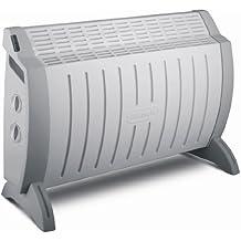 Delonghi HCO620 Radiador De Aceite, 2000 W, 3 Velocidades, Acero Inoxidable, Blanco