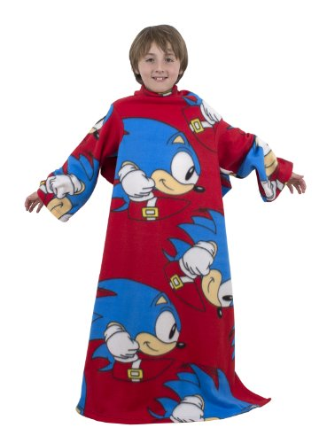 Image of Character World Sonic the Hedgehog Sprint Sleeved Fleece Blanket, Multi-Color