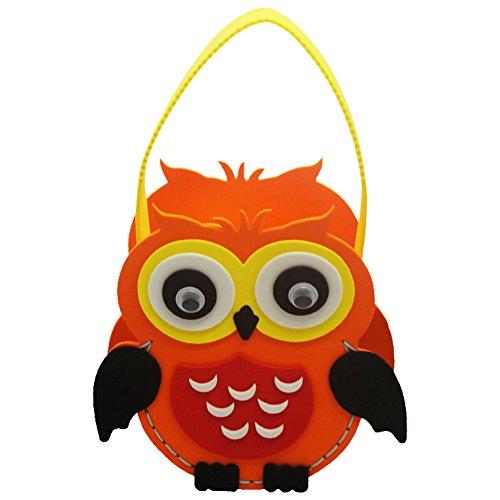 (SpringPear® Eule Handtasche Halloween Weihnachten DIY Tasche Süßigkeiten Beutel Mottoparty Dekoration Kinder Geburtstag Candy Bag Party)