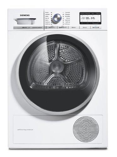 Siemens iQ800 WT47Y701 iSensoric Premium-Wärmepumpentrockner / A++ / 8 kg / Weiß / Selbstreinigender Kondensator / SoftDry-Trommelsystem / TFT-Display - 8