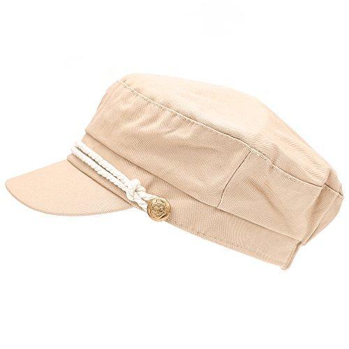 MIRMARU Damen Mütze aus 100% Baumwolle, griechischer Fischer, Matrosen-Mütze - blau - Einheitsgröße