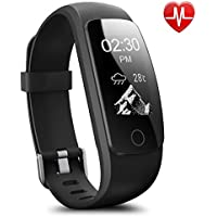 Pedometer Watch, AsiaLONG Fitness Tracker with Heart Rate Monitor Smart Bracelet Activity Tracker with Weather Forecast,Stopwatch,14 training modes,Sleep Monitor for Android iOS