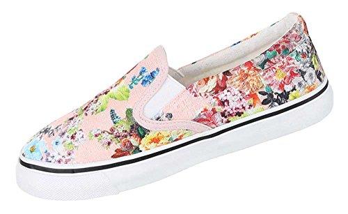Damen Schuhe Halbschuhe Slipper Moderne Schlupfschuhe Flache Sommerschuhe Rosa