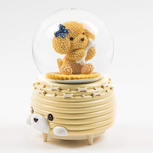 (hokkk Kristallkugel-Spieluhr Geschenk Anhänger Spin Glowing Senden Freund Freundin Mädchen Geburtstagsgeschenk Hoch 15cm * Breite 10cm A)