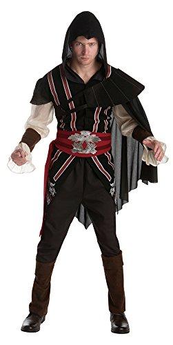 Bristol Novelty af042Ezio Auditore Klassische Erwachsenen Kostüm (L), Brust Größe 111,8cm-117cm (Assains Creed Kostüm)