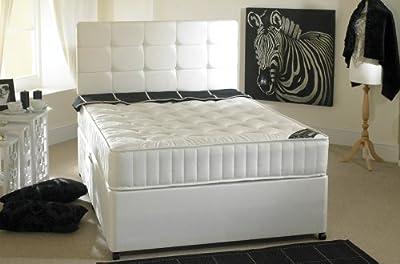Happy Beds Neptune Divan Bed Set Semi Orthopaedic Mattress No Drawers Headboard
