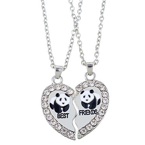 housweety-2-pcs-collier-damitie-forever-pendentif-coeur-briser-couple-puzzle-pandas-best-friends-pou