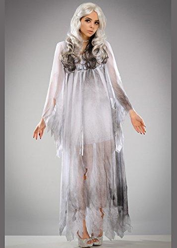 Lady Kostüme Ghost (Womens Halloween Gothic Ghost Kostüm S/M (UK)