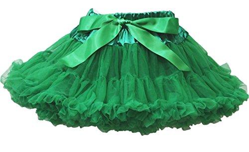 Kelly Green Tutu, Pettiskirt Rock Tutu Kleid Mädchen Kleidung–74bis 122 Gr. Large, Grün (Kelly-grün-chiffon-kleid)