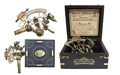 Nautika & Maritimes Kelvin & Hughes London Messing antik Nautical Sextant Marine Antik Sextanten